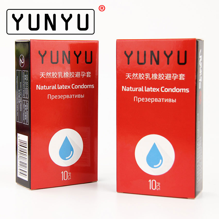 10 pcs/Box YUNYU Slim Condom Large Oil Ultra-thin Natural Latex Malaysia Rubber Condoms For men delay ...