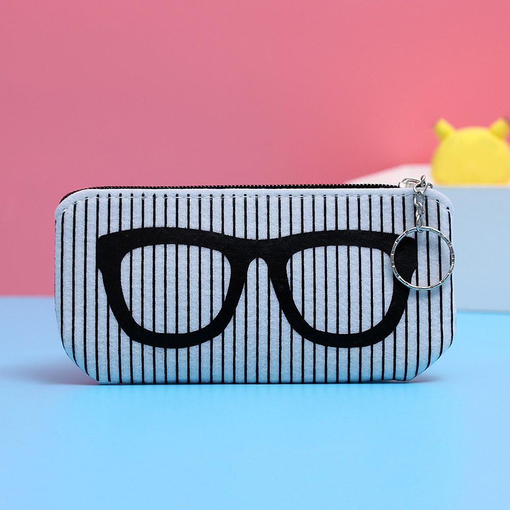 2018 Fashion Zipper Eye Glasses Sunglasses Case Pouch Bag Box Storage Protector Fashion Eyewear Accessoires Felt Box Gifts