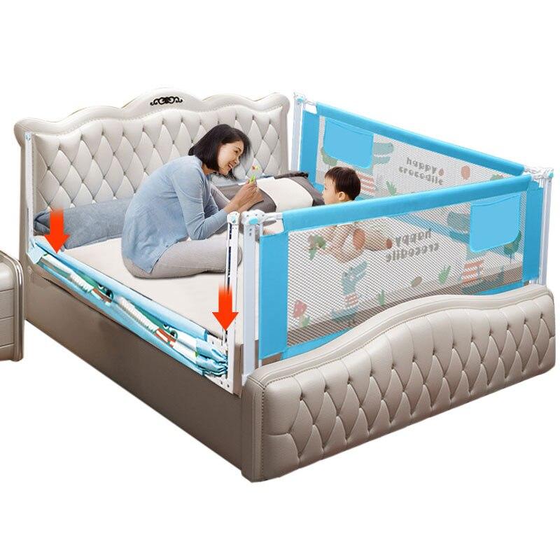 Dla dzieci ogrodzenia łóżko Barierka ochronna produktów dziecko bariery do łóżek łóżeczka bezpieczeństwa kolei ogrodzenia dla dzieci poręczy bezpieczne kojec dla dzieci