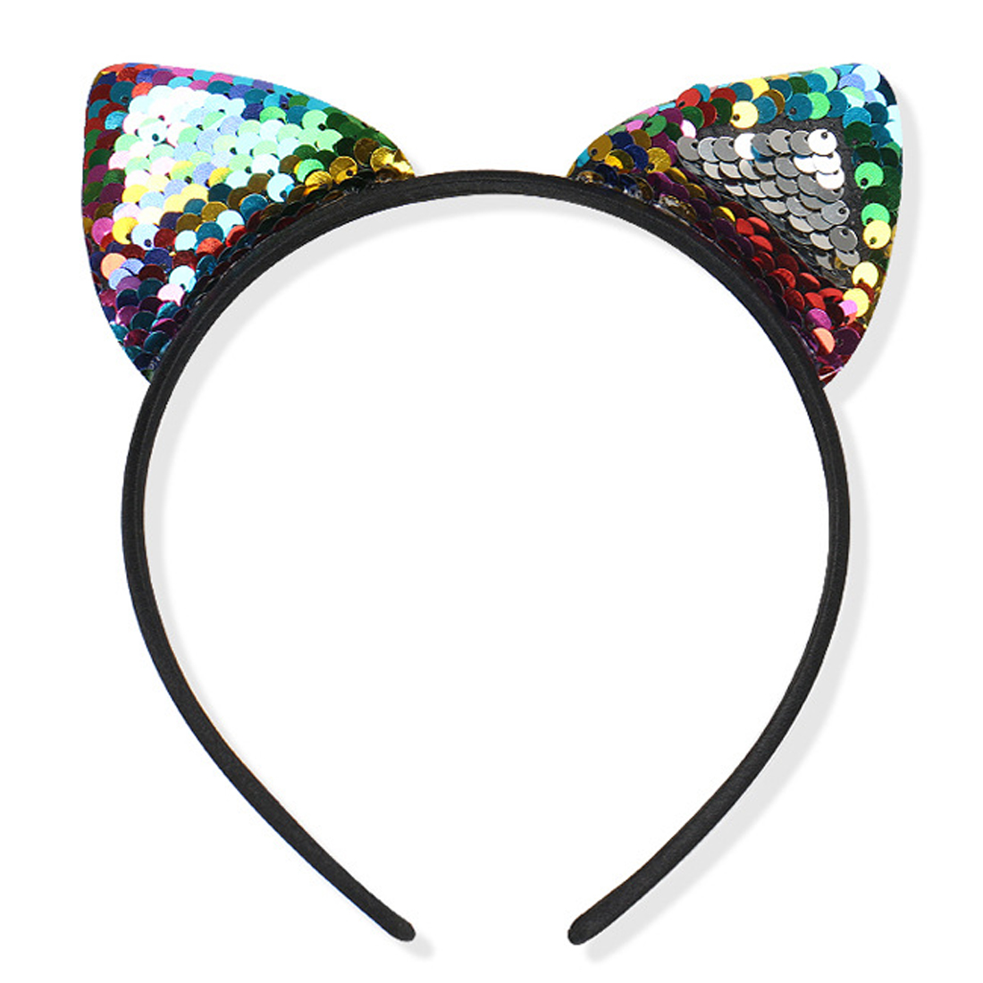 Fashion cool  flip sequin cloth cat ears headband Childrens holiday Sexy Women Hair Accessories