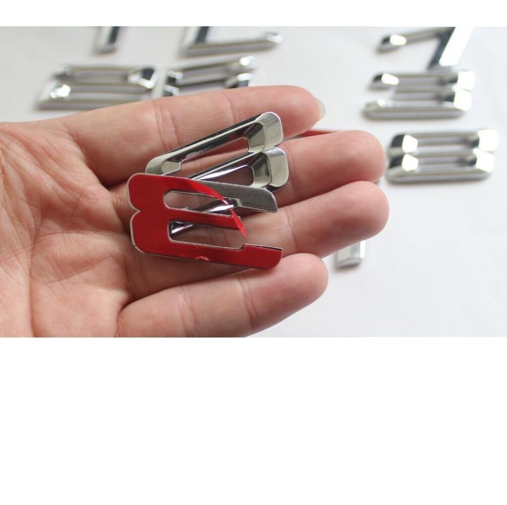 Chrome Silver Number Letters Car Trunk Badge Emblem Emblems for BMW 7 Series 745i 740i 750i 730Li 735Li 740Li 750Li 745Li 760Li in Emblems from Automobiles Motorcycles