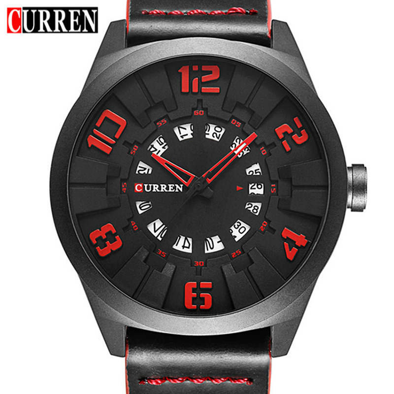 2017 New CURREN Watches Men Fashion Luxury Man Sport Clock Male Military Wristwatch Leather Quartz Watch Relogio Masculino 8258 бейсболка djinns denim aloha high fitted t cap grey o s