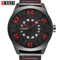2017 New CURREN Watches Men Fashion Luxury Man Sport Clock Male Military Wristwatch Leather Quartz Watch