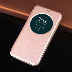 Image 2 - Smart View Cuoio Della Copertura di Vibrazione della Cassa Del Telefono Per Asus Zenfone 2 3 Laser Zenfone2 Zenfone3 ZE550KL ZE551KL ZC551KL ZE 550 ZC 551 KL