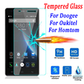 9 H Templado Protector de Pantalla de Cristal para Doogee X6 X5 Pro 550 F5 Y100 Homtom HT6 Ht3 Ht7 Pro Oukitel K4000 K6000 Película Caja Del Teléfono