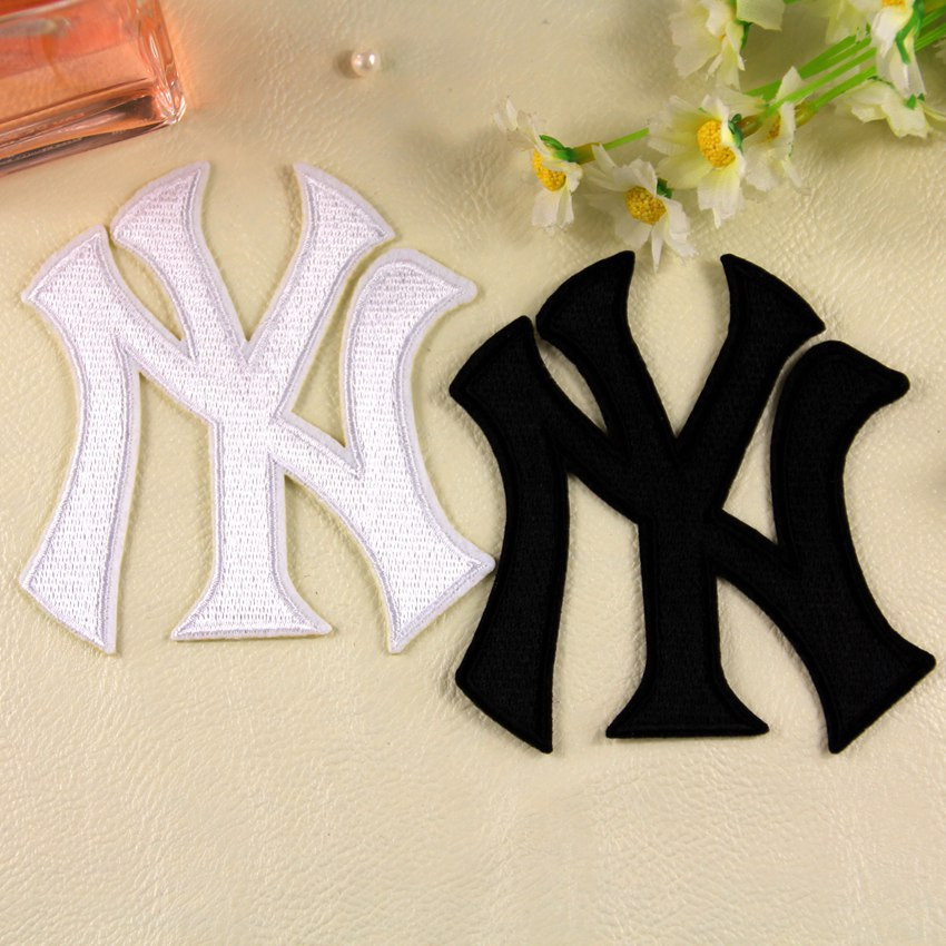 (10 pcs/lot) New York Yankees NY Logo Cloth Stickers Sew-on Iron-on Badge Free Shipping ...