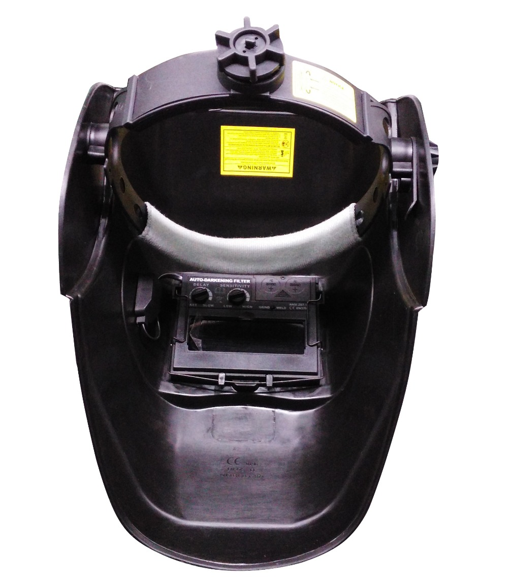 black  Li Battery+Solar Auto darkening welding helmet/face mask/Electric welder mask/cap for the welding machine