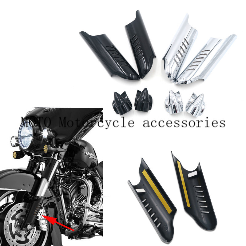 Motorcycle Lower Fork Leg Cover Guard Deflector Shield for Harley Touring Street Electra Tri Glide Road King Custom F 00-12 2013 мужские часы appella 4253 2014