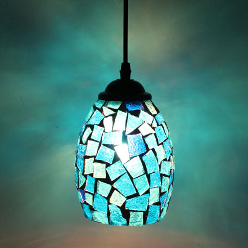 Tiffany Personalized fashion Mediterranean Style Restaurant Bar Cafe balcony Masek retro Color Pendant Lights DF21 lo1020 tiffany restaurant in front of the hotel cafe bar small aisle entrance hall creative pendant light mediterranean df66
