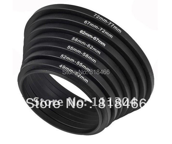 Foleto 7pcs ring 49-52-55-58-62-67-72-77mm 7pcs Metal Step Up Rings Lens Adapter Filter Set 49mm 52mm 58mm 62mm 67mm 72mm 77mmFoleto 7pcs ring 49-52-55-58-62-67-72-77mm 7pcs Metal Step Up Rings Lens Adapter Filter Set 49mm 52mm 58mm 62mm 67mm 72mm 77mm