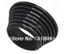 Foleto anillo metálico de regulador, 7 Uds., conjunto de filtros de adaptador de lente de 49mm, 52mm, 58mm, 62mm, 67mm, 72mm y 77mm