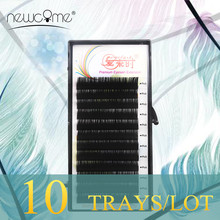 10 Cases Individual Silk Eyelash Extensions All Size Fake Eyelash Extensions False Eyelash Cilia Eyelash Extension Makeup Tools