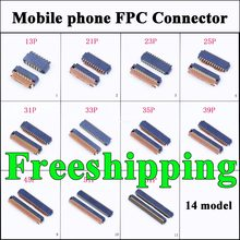 14 models 13p - 71p 61p 51p LCD FPC Connector for Motorola Droid Turbo XT1254 Display PCB Port Mobile phone repair parts acc.(China)