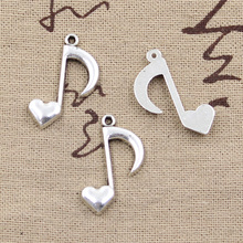 Musical Note Tibetan Silver Pendants 8Pcs
