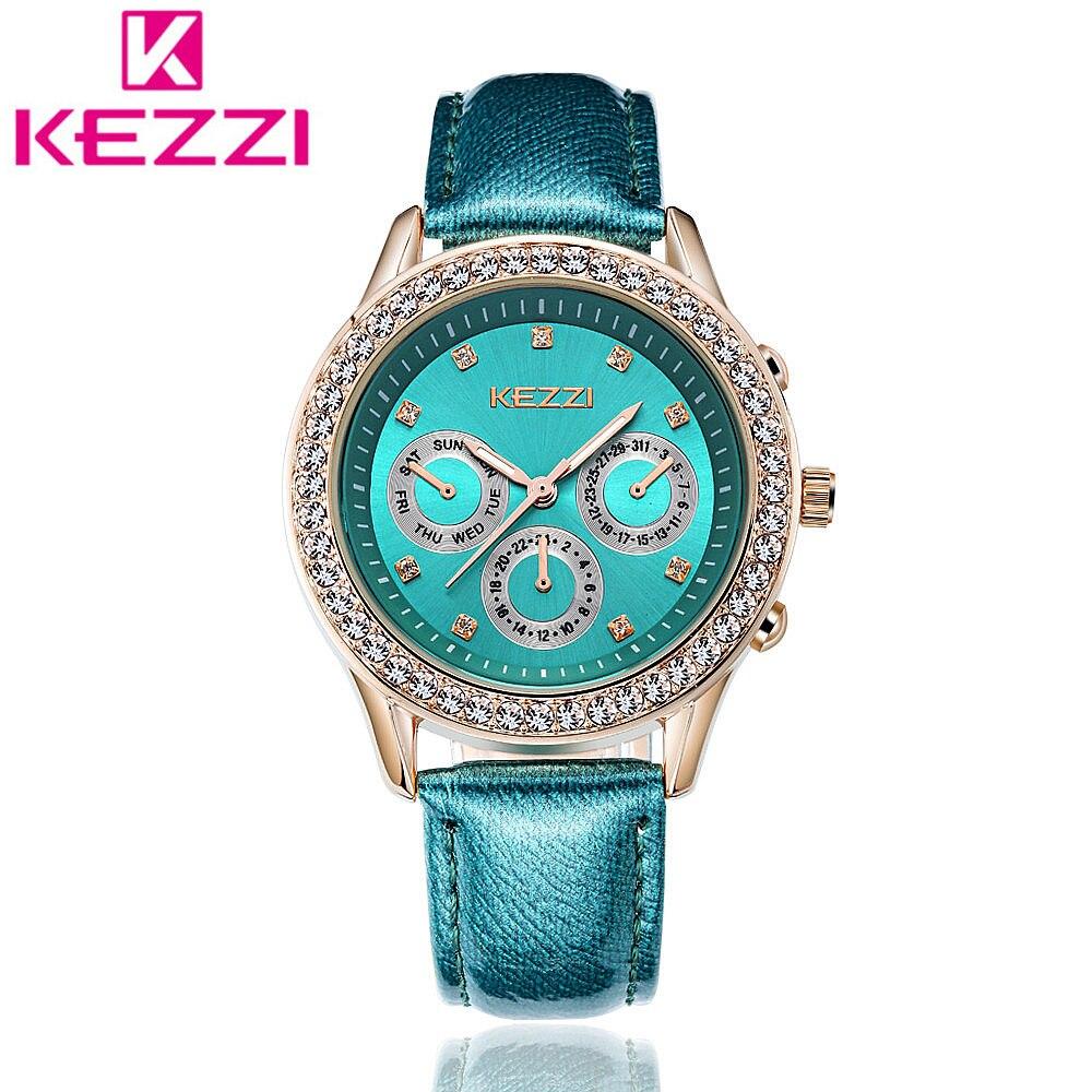 все цены на  KEZZI K1273 Brand Fashion Women Rhinestone Wristwatch Ladies Luxury Casual Quartz Watch Relogio Feminino Gift KZ99  онлайн