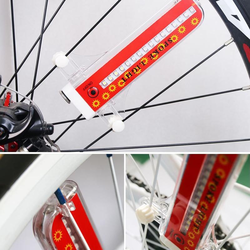 14 LED Motorcycle Cycling Bicycle Bike Wheel Signal Tire Spoke Light 30 Changes 3 Modes Bicycle Spoke Light