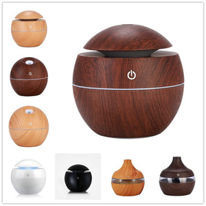 Mini Wooden Aromatherapy Home Office Humidifier Aroma Diffuser Essential Oil Diffuser Air Purifier Color light Essential Oil