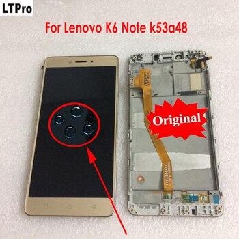 Originale Best di Lavoro Testato LCD Display Touch del Pannello Dello Schermo Digitizer Assembly con Telaio Per Lenovo K6 NOTA k53a48 Parti Del Telefono