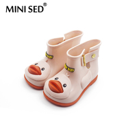 MINISED Brazilian Children Duck Boot Girl Rainboots Jelly Shoes Children Sandals Water Shoes High Quality Girl
