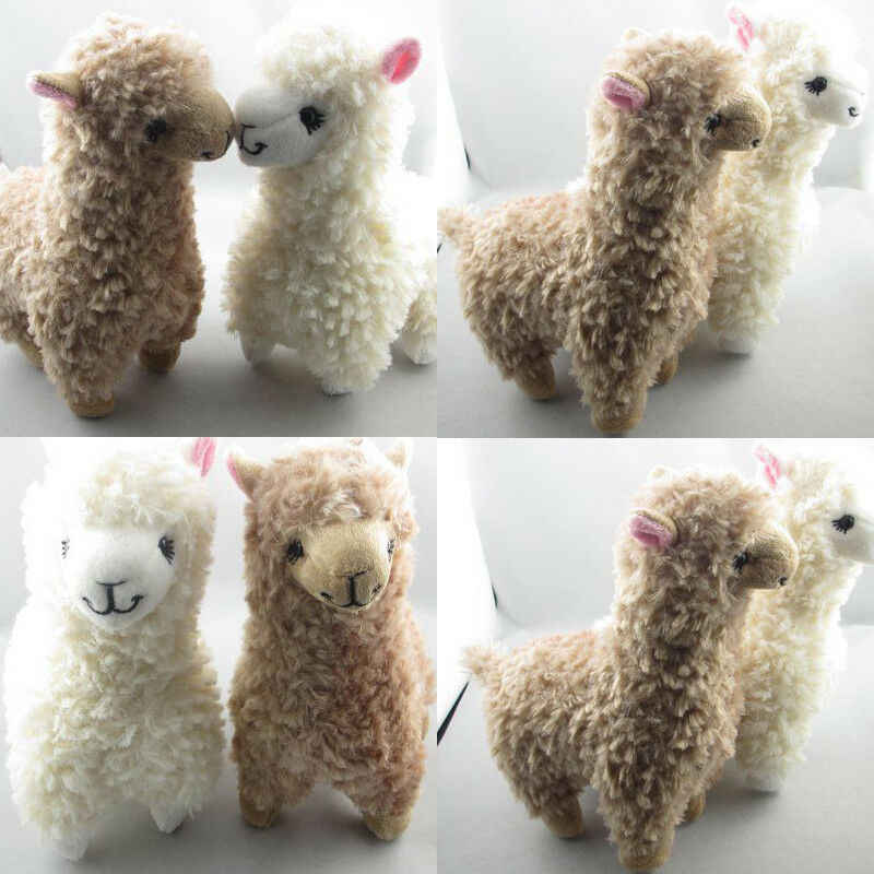 2019 Newest Hot 2x Cute Alpaca Plush Toy 23CM Height Camel Cream Llama Stuffed Animal Kids Doll