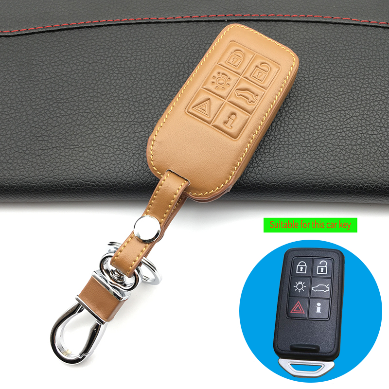 Volvo V50 S40 C70 C30 keyless Leather Case in Black Color