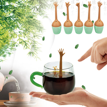 Funny Hand Gestures Tea Infuser Black Tea Strainer FDA Grade Silicone Loose Leaf Tea Brewing Tools Tea Accessories stainless steel tea ball tea infuser black tea strainer fda approved loose leaf herbal brewing tools