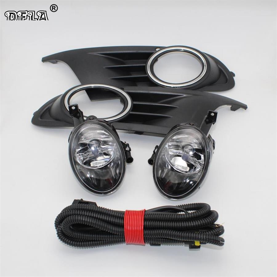For VW Golf 6 MK6 2009 2010 2011 2012 2013 Golf 6 Cabriolet 2012-2016 Front Fog Light Fog Lamp + Cover + Harness Assembly car parts tail lamp for vw golf 6 2008 2009 2010 2011 2012 2013 led tail light rear lamp plug and play design