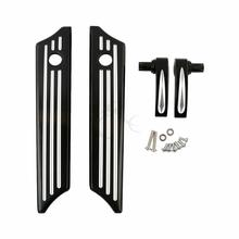 Motorcycle Saddlebag Latch Covers w/ Lid Lifter For Harley Touring Road Street Electra Glide 2014-2017 FLHR FLHT FLHX 1pair motorcycle led light front lower fork leg covers case led warning light for harley accessories flhr flhx flht 2014 up
