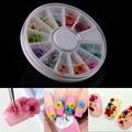 36 pcs DIY Nail Art Ferramentas Adorno flores Secas Decorações Etiqueta Do Prego Roda Mista Acessórios Da Arte Do Prego Manicure ferramentas unhas