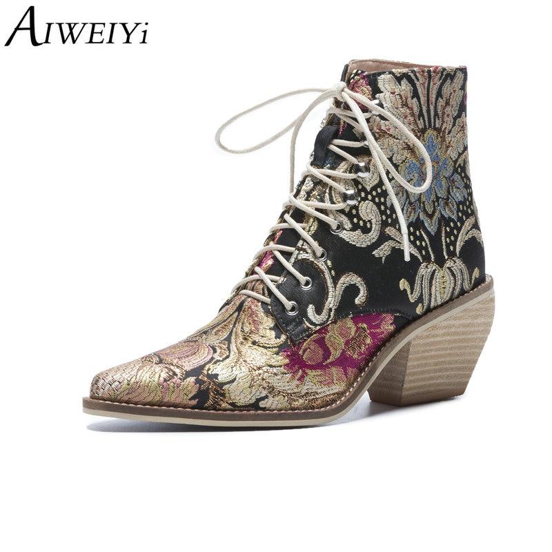 Aiweiyi Women S Winter Shoes Brand Designer Mid Calf Boots