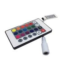 цена на 5PCS Mini 24 keys RGB IR Remote Controller for 3528 or 5050 RGB LED strips Small RGB Controller Free Shipping
