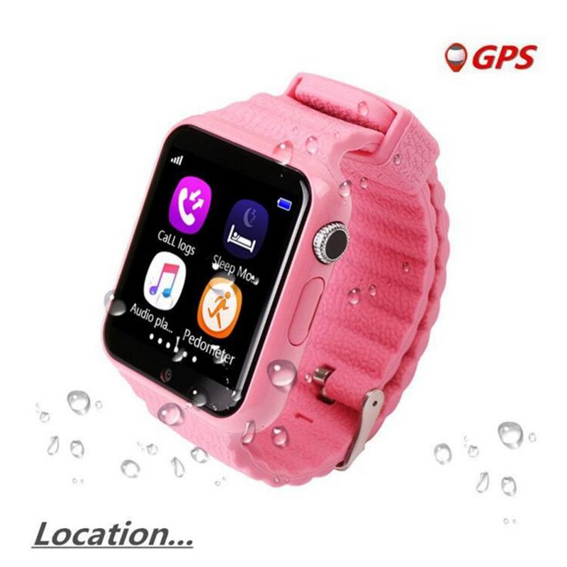 English GPS Smart Watch Kids Watch With Camera Facebook SOS Call Location Devicer Tracker For Kid Safe Anti-Lost Monitor F41 2018 new gps tracking watch for kids waterproof smart watch v5k camera sos call location device tracker children s smart watch