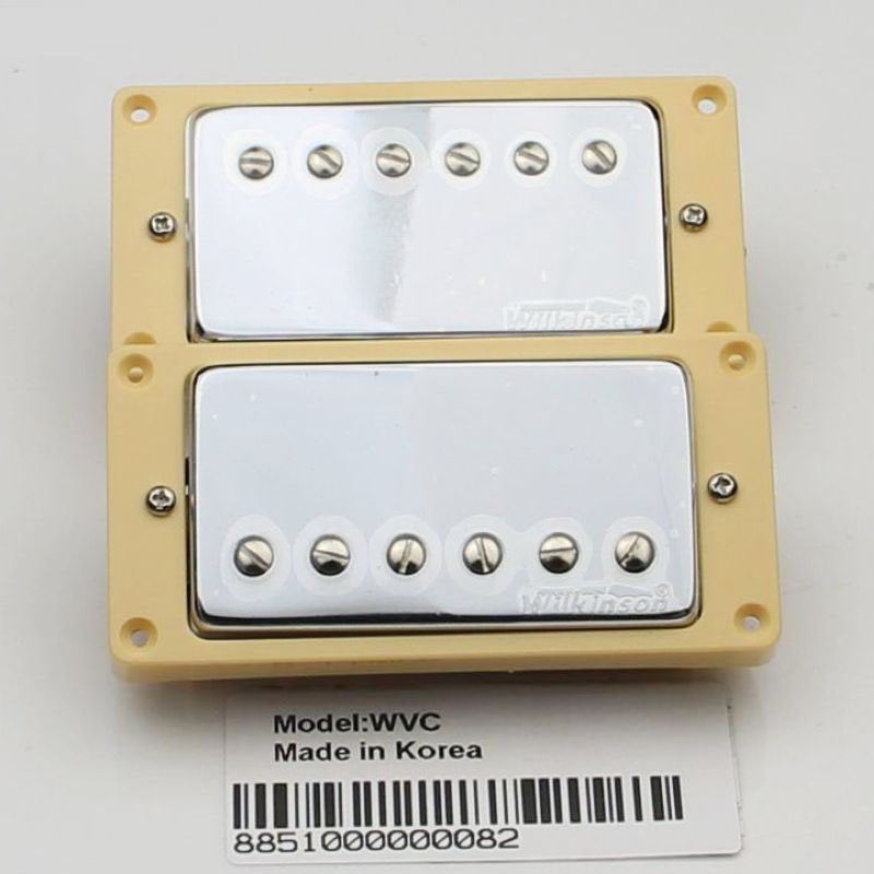 LP electric guitar pickups Han dual coil pickups closed Wilkinson WVC Chrome 2pcs chrome double coil humbucker pickups neck
