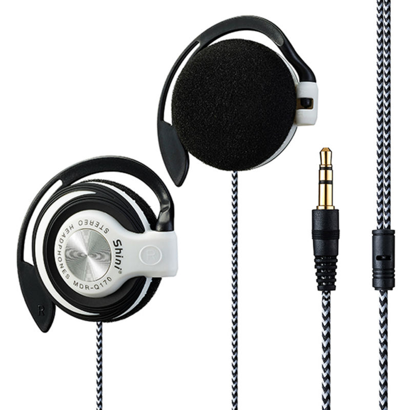 Shini Q170 Headphones 3.5mm Headset EarHook Earphone For Mp3 Player Computer Mobile Telephone Earphone Wholesale