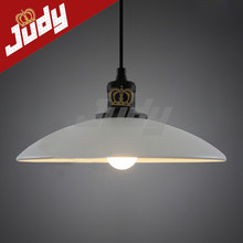 Judy Lighting-Fashion e27 vintage Retro pendant Office style Pendant Lights free shipping White Pendant Lamp
