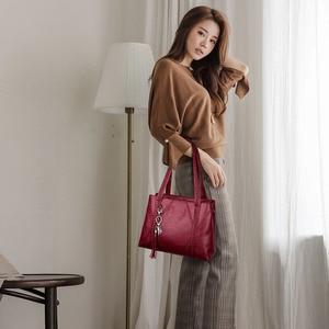 Image 4 - New Leather Tassel bags Large Capacity Women Shoulder Messenger Bag Handbag Famous Big Bag Designer Handbags High Quality Sac