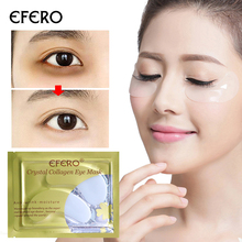 efero 8pair Collagen Eye Mask Anti Wrinkle Eye Gel Patch Anti-Puffiness Dark Circle Remover Moisturizing White Mask for Eye Care