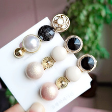 AHB Hair Accessories Pearl Clips For Women Fashion Sweet Girl Korean Hairpins Alloy BB Handmade INS 2019