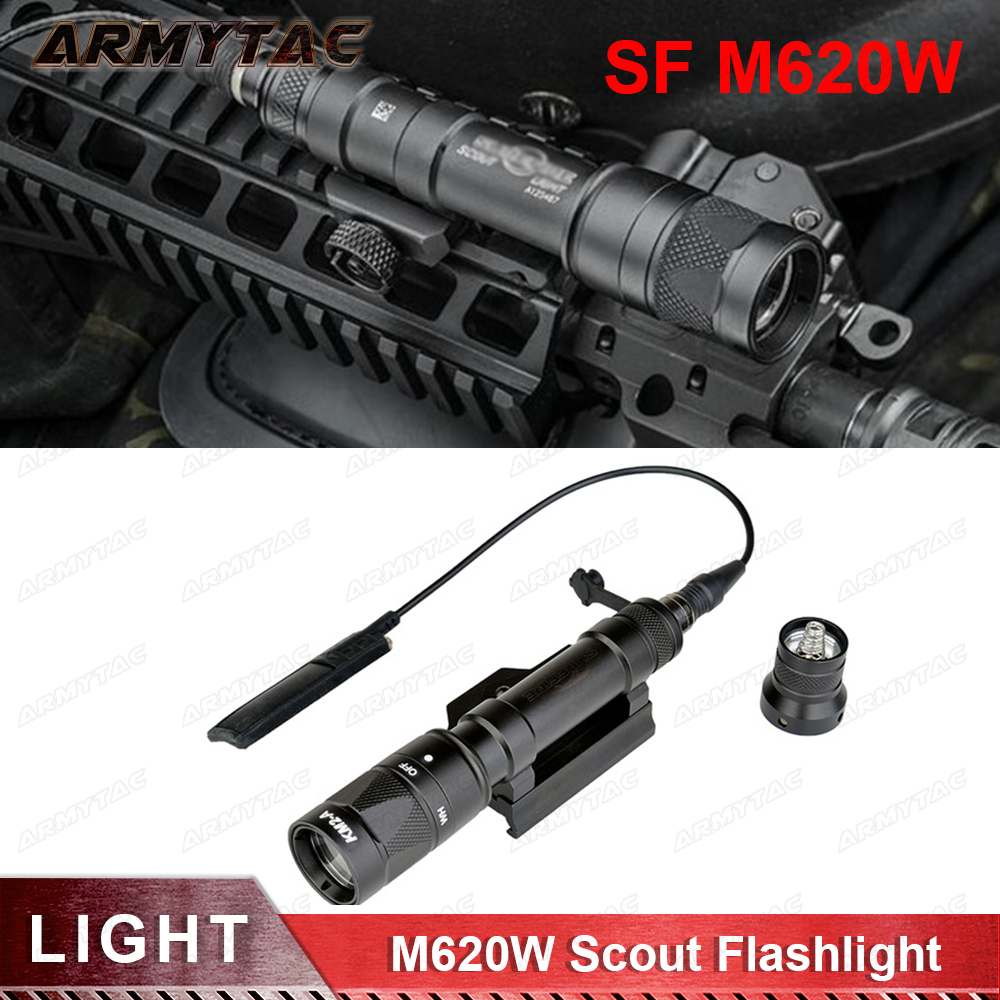 SF M620W Tactical Rifle Scout light LED weapon flaslight Airsoft Hunting Weapon Light Strobe Output Full New version EX378