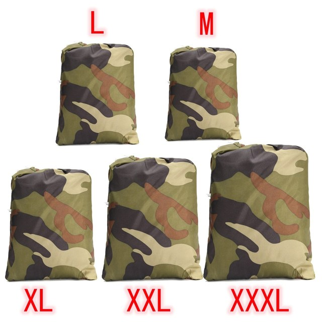 Universal 190T Camouflage Waterproof Motorcycle Cover Quad ATV Vehicle Scooter Motorbike Cover M L XL XXL XXXL