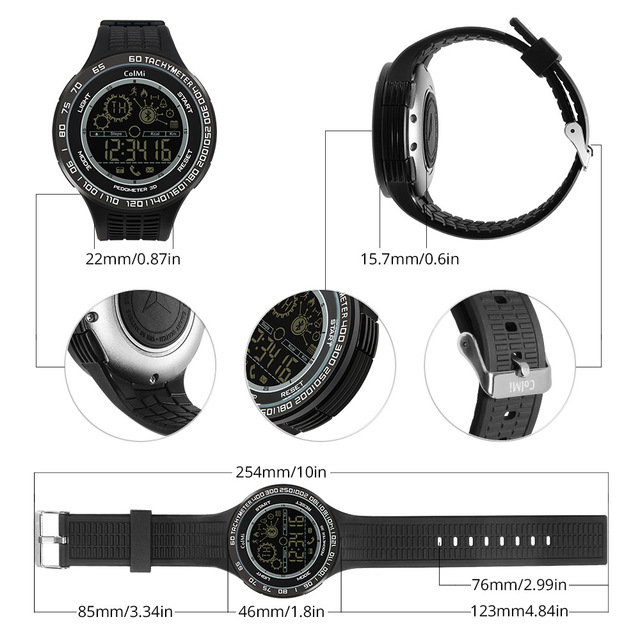 ColMi Sport King Kong 5ATM IP68 Waterproof Passometer Smartwatch