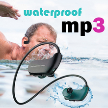 IPX8 a prueba de polvo impermeable reproductor de MP3 deporte al aire libre auriculares de música MP3 HiFi 8G de memoria auriculares para correr