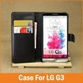 Novo luxo pu tampa flip de couro para lg g3 caso carteira com stand titular do cartão de sacos de telefone optimus g3 d855 d850 capa fundas coque