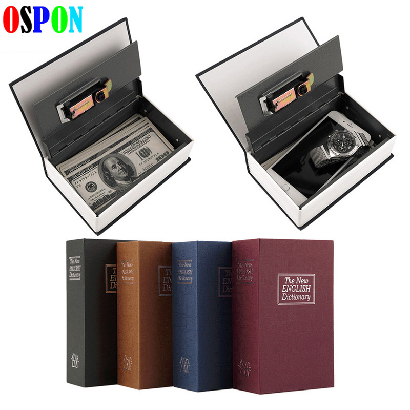 Book Safes Metal Steel Cash Secure Hidden English Dictionary Booksafe Homesafe Money Box Coin Storage Secret Piggy Bank Size M giantree portable money box 6 compartments coin steel petty cash security locking safe box password strong metal for home school