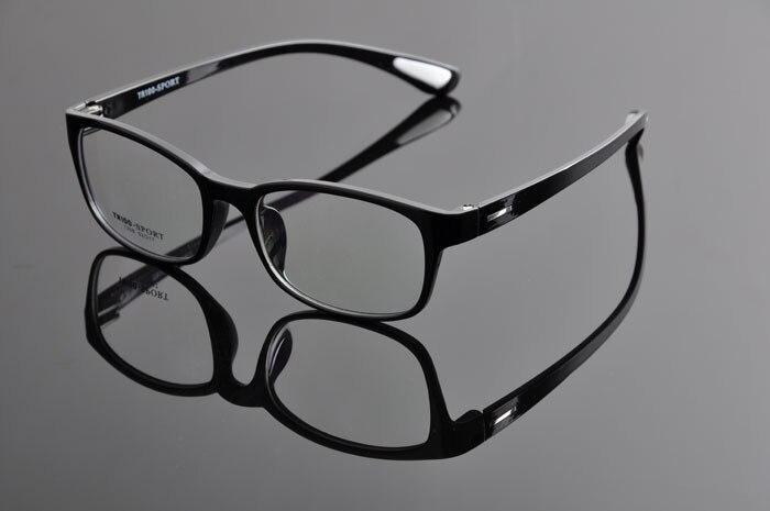 TR90 спортивные полный кадр очки ультра легкий Play для верховой езды очки для близорукости оправы для очков Для мужчин DD0876 - Цвет оправы: shiny black