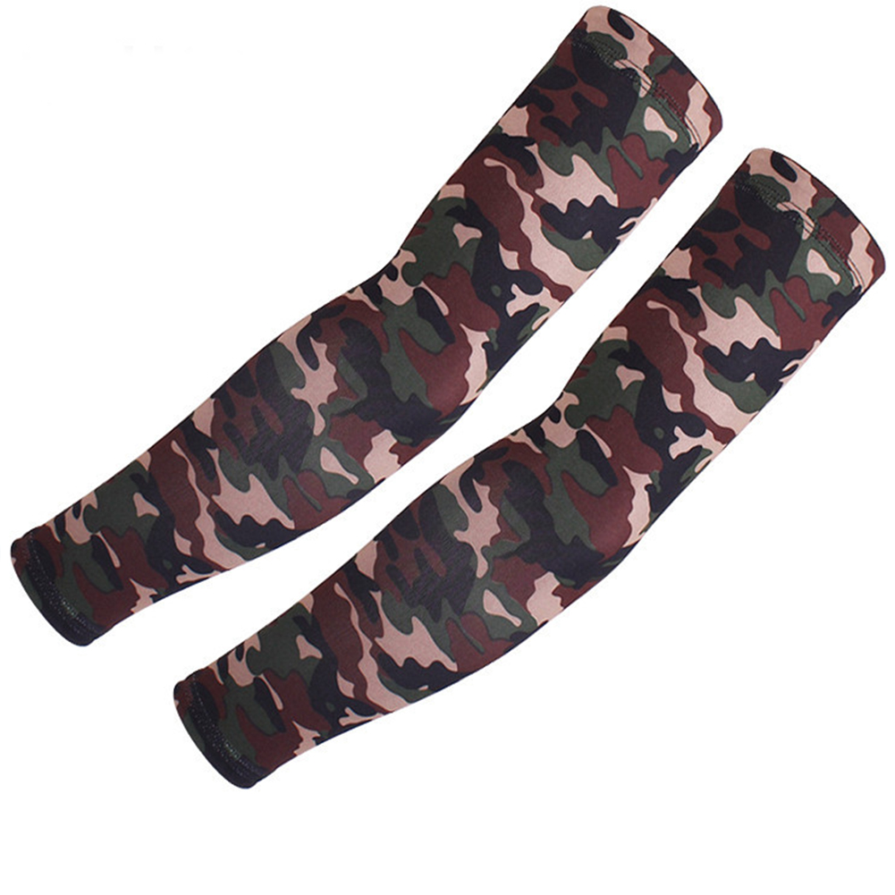 2PCS Cooling Arm Sleeves Cover UV Sun Protection Basketball Sports Camouflage
