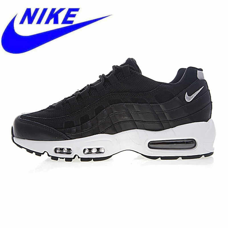 91bff316e4 Original New Arrival Nike Air Max 95 PRM Men's Running Shoes, Black, Shock  Absorption