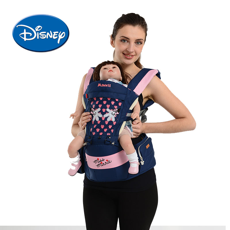 Disney Breathable Baby Carrier Multi-functional Front Facing Hipseat Infant Baby Sling Ergonomic Backpack Detachable disney baby carrier front facing infant breathable comfortable sling mickey minnie backpack toddler detachable carrier