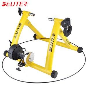 """Image 4 - Rollers para treinamento de ciclismo, treinador para bicicleta, exercícios internos, resistências magnéticas de 26 28 """", estação de fitness, treinador de bicicleta"""