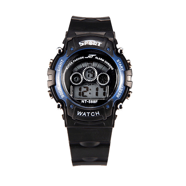 Mens multi-function digital wristwatches outdoor sports luminous black LED watch student watches free shipping sale